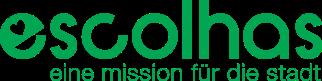logo escolhas eine mission für die stadt com slogan verde 1 cor